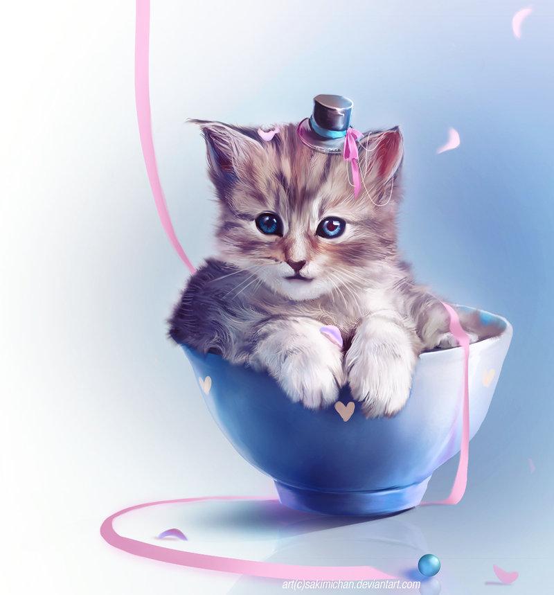 картинки которые двигаются и блестят котята смешных
